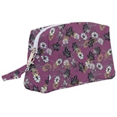 Beautiful Floral Pattern Background Wristlet Pouch Bag (large)