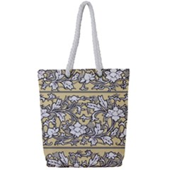 Floral Pattern Background Full Print Rope Handle Tote (small)