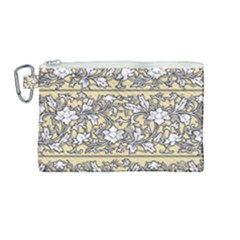 Floral Pattern Background Canvas Cosmetic Bag (medium)