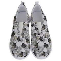 Black And White Floral Pattern Background No Lace Lightweight Shoes