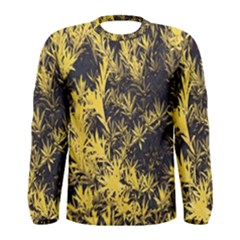 Artistic Yellow Background Men s Long Sleeve Tee