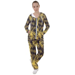 Artistic Yellow Background Women s Tracksuit