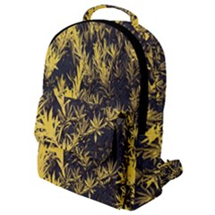 Artistic Yellow Background Flap Pocket Backpack (small)