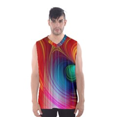 Background Color Colorful Rings Men s Basketball Tank Top