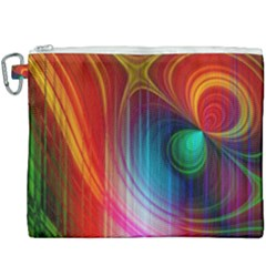 Background Color Colorful Rings Canvas Cosmetic Bag (xxxl)