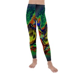 Abstract Transparent Background Kids  Lightweight Velour Leggings