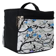 Floral Pattern Background Make Up Travel Bag (small)