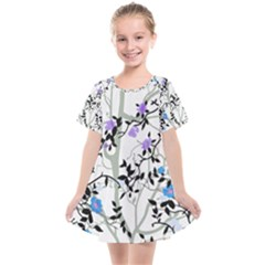 Floral Pattern Background Kids  Smock Dress by Sudhe
