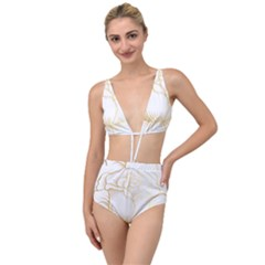 Golden Rose Stakes Tied Up Two Piece Swimsuit