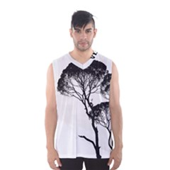 Silhouette Photo Of Trees Men s Basketball Tank Top