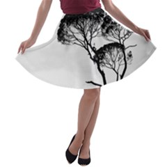 Silhouette Photo Of Trees A Line Skater Skirt