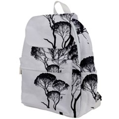 Silhouette Photo Of Trees Top Flap Backpack by Sudhe