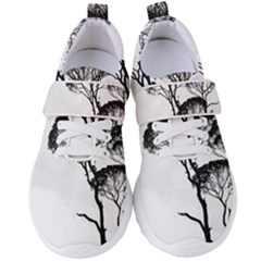 Silhouette Photo Of Trees Women s Velcro Strap Shoes