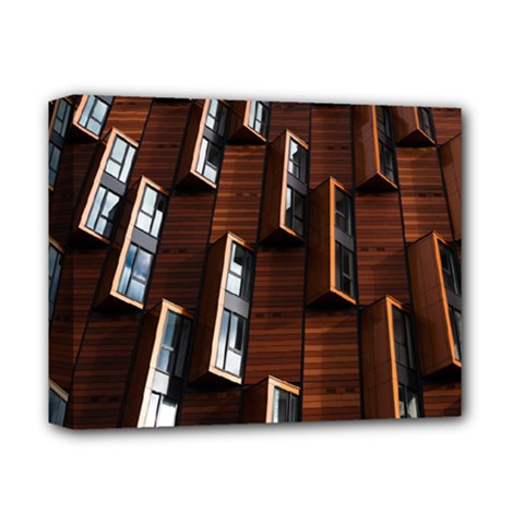 Abstract Architecture Building Business Deluxe Canvas 14  X 11  (stretched) by Sudhe