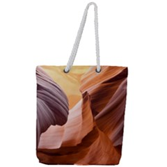Light Landscape Nature Red Full Print Rope Handle Tote (large)