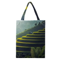 Scenic View Of Rice Paddy Classic Tote Bag