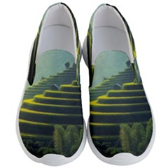 Scenic View Of Rice Paddy Men s Lightweight Slip Ons