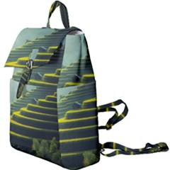 Scenic View Of Rice Paddy Buckle Everyday Backpack