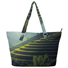 Scenic View Of Rice Paddy Full Print Shoulder Bag
