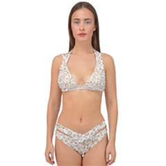 Vector Classical Pattern Double Strap Halter Bikini Set by Sudhe