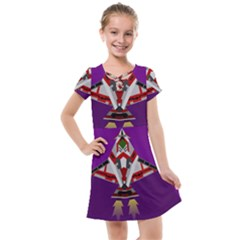 Toy Plane Outer Space Launching Kids  Cross Web Dress
