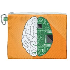 Technology Brain Digital Creative Canvas Cosmetic Bag (xxl) by Sudhe