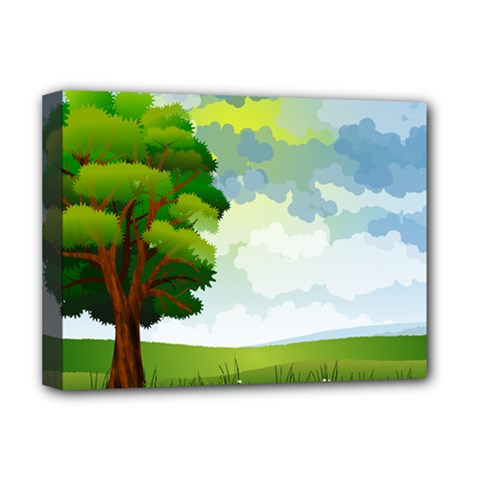 Landscape Nature Natural Sky Deluxe Canvas 16  X 12  (stretched)  by Sudhe