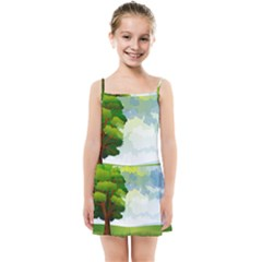 Landscape Nature Natural Sky Kids  Summer Sun Dress