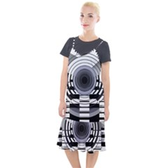 Glass Illustration Technology Camis Fishtail Dress
