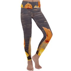 Old Crumpled Pumpkin Kids  Lightweight Velour Classic Yoga Leggings by rsooll