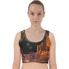 Geology Sand Stone Canyon Velvet Racer Back Crop Top