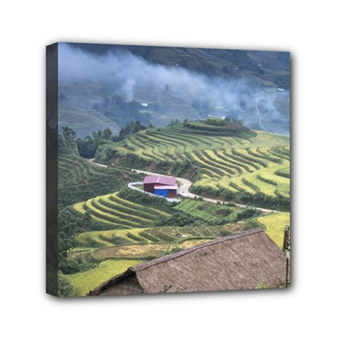 Rock Scenery The H Mong People Home Mini Canvas 6  X 6  (stretched)