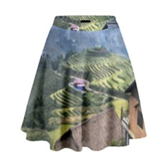 Rock Scenery The H Mong People Home High Waist Skirt