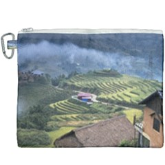 Rock Scenery The H Mong People Home Canvas Cosmetic Bag (xxxl)