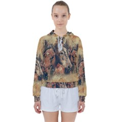 Head Horse Animal Vintage Women s Tie Up Sweat by Sudhe