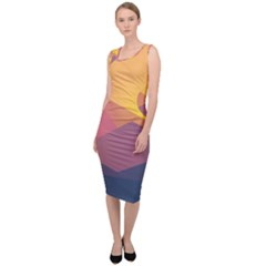 Image Sunset Landscape Graphics Sleeveless Pencil Dress