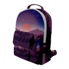 Dusk Sunset Dawn Sky Evening Flap Pocket Backpack (large)