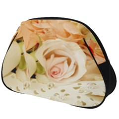 Roses Plate Romantic Blossom Bloom Full Print Accessory Pouch (big)