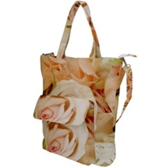Roses Plate Romantic Blossom Bloom Shoulder Tote Bag