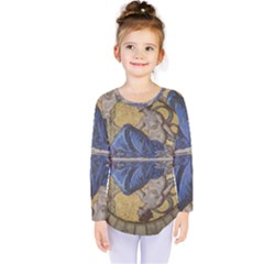 Mosaic Painting Glass Decoration Kids  Long Sleeve Tee