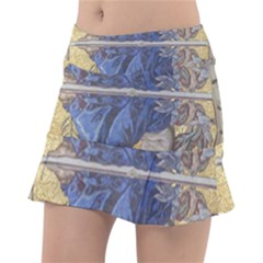 Mosaic Painting Glass Decoration Tennis Skirt