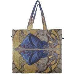 Mosaic Painting Glass Decoration Canvas Travel Bag