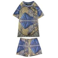 Mosaic Painting Glass Decoration Kids  Swim Tee And Shorts Set by Sudhe