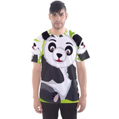 Giant Panda Bear Men s Sports Mesh Tee by Sudhe