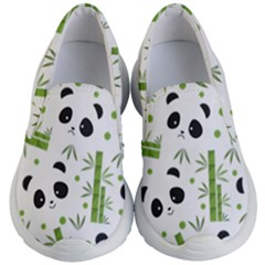 Giant Panda Bear Bamboo Icon Green Bamboo Kids  Lightweight Slip Ons