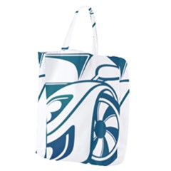 Blue Vector Car Giant Grocery Tote