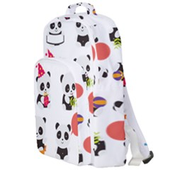 Giant Panda Bear Cuteness Double Compartment Backpack