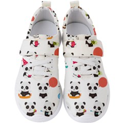 Giant Panda Bear Cuteness Men s Velcro Strap Shoes by Sudhe