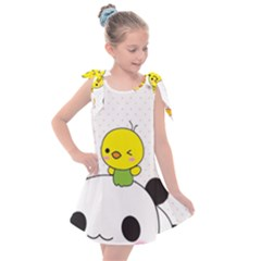 Giant Panda Red Panda Cartoon Drawing Kids  Tie Up Tunic Dress
