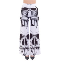Skull Knife Euclidean Vector Skull Sword Inserted So Vintage Palazzo Pants by Sudhe